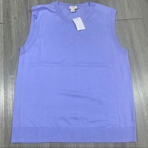J.Crew NWT Lavender Crew Neck Sleeveless Sweater